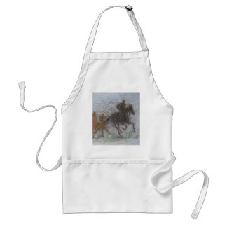 caballo que compite con delantal