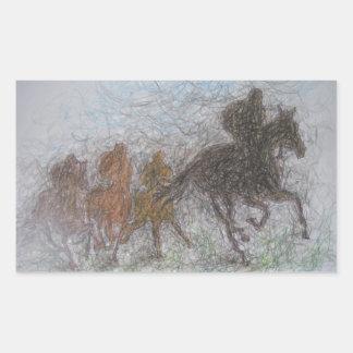 caballo que compite con rectangular altavoz