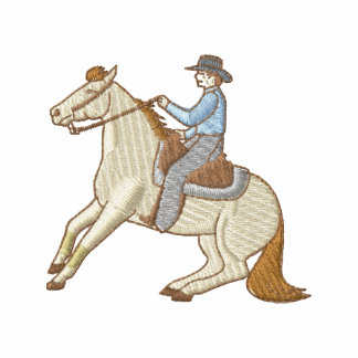 Caballo que contiene sudadera bordada con capucha