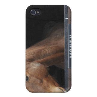 Caballo que se coloca de mirada fuera de su establ iPhone 4/4S funda