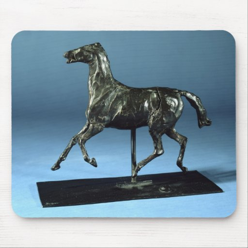 Caballo que trota (bronce) alfombrilla de raton