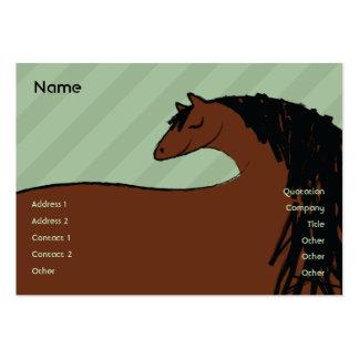 Caballo - rechoncho tarjetas de visita grandes