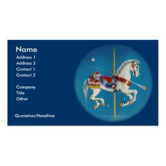 Caballo rojo, blanco y azul de la tarjeta de visit plantilla de tarjeta de negocio
