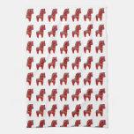 Caballo rojo de Dala Toalla De Mano