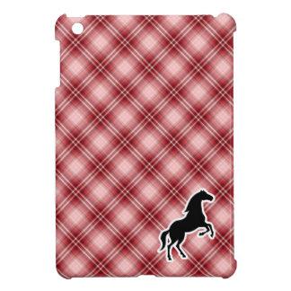 Caballo rojo de la tela escocesa iPad mini cobertura
