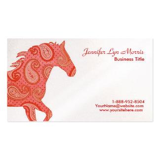 Caballo rojo de Paisley Tarjetas De Visita