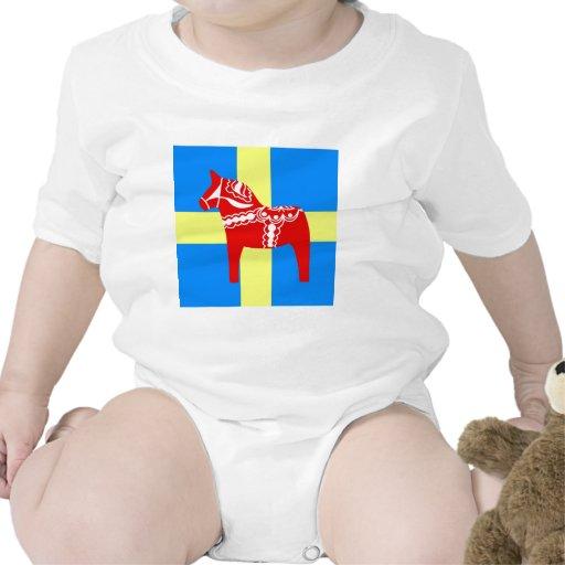 Caballo rojo de Suecia Dala Traje De Bebé