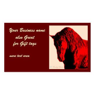 Caballo rojo tarjetas de visita