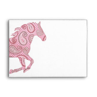Caballo rosado bonito de Paisley Sobres
