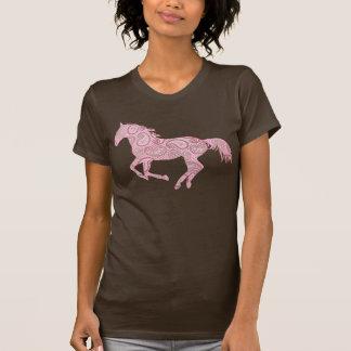 Caballo rosado de Paisley Camisetas