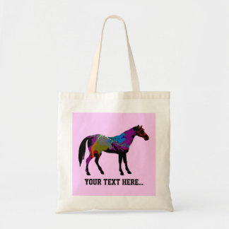 Caballo rosado personalizado bolsa tela barata