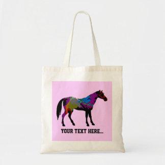 Caballo rosado personalizado bolsas de mano