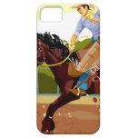 Caballo salvaje bucking del montar a caballo del funda para iPhone SE/5/5s
