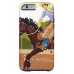 Caballo salvaje bucking del montar a caballo del funda resistente iPhone 6