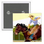 Caballo salvaje bucking del montar a caballo del pin cuadrado