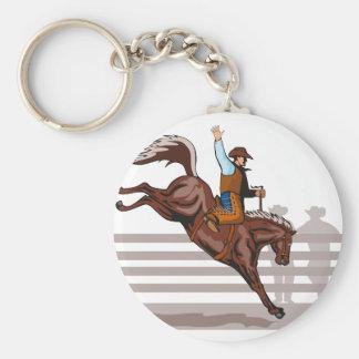 caballo salvaje bucking del vaquero del rodeo llaveros personalizados
