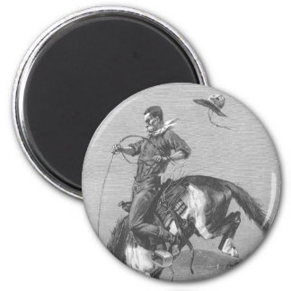Caballo salvaje Bucking por Remington, vaqueros Imán De Nevera