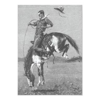 Caballo salvaje Bucking por Remington, vaqueros