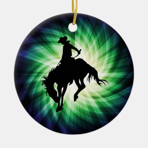 Caballo salvaje Bucking; Rodeo; Fresco Ornamentos De Reyes Magos