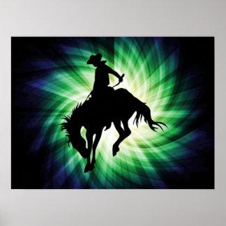 Caballo salvaje Bucking; Rodeo; Fresco Impresiones
