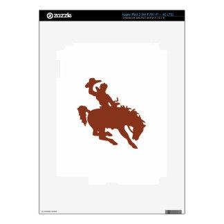Caballo salvaje con el jinete iPad 3 pegatina skin