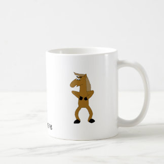 Caballo salvaje del dibujo animado de Brown Tazas