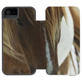 Caballo salvaje del mustango funda cartera para iPhone 5 watson