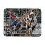 Caballo salvaje del rodeo del caballo iman