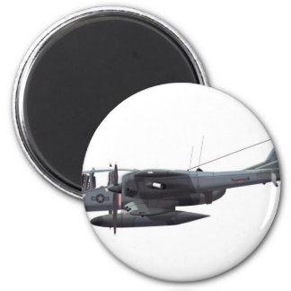 Caballo salvaje norteamericano de OV-10A Imán Redondo 5 Cm