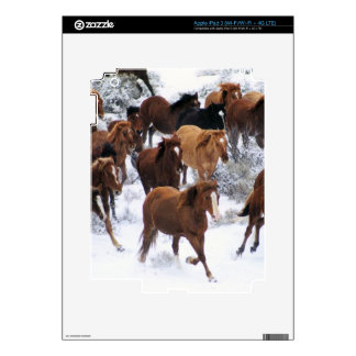 Caballo salvaje que corre en nieve pegatina skin para iPad 3