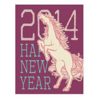 Caballo salvaje (tarjeta) del Año Nuevo (poste de Postales
