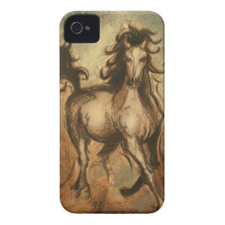 Caballo salvaje y colores calientes Case-Mate iPhone 4 cobertura
