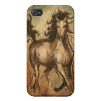 Caballo salvaje y colores calientes iPhone 4/4S carcasa