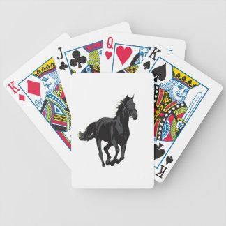 Caballo - semental negro cartas de juego