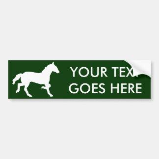 caballo simple pegatina de parachoque