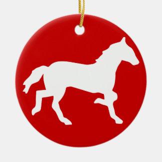 caballo simple adorno redondo de cerámica