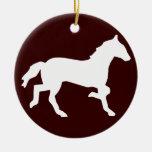 caballo simple ornamento para arbol de navidad