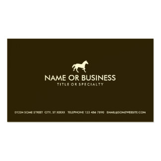 caballo simple tarjetas de visita