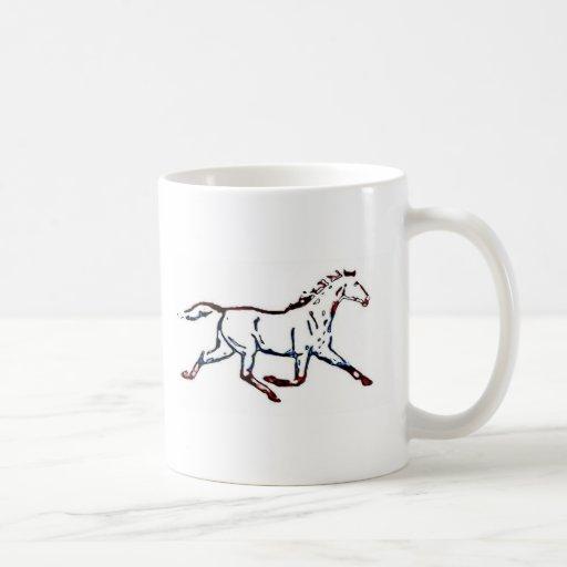 Caballo simple taza de café