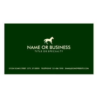 caballo simple (verde) tarjetas de visita