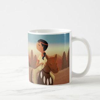 Caballo sin nombre - nativo americano tazas de café