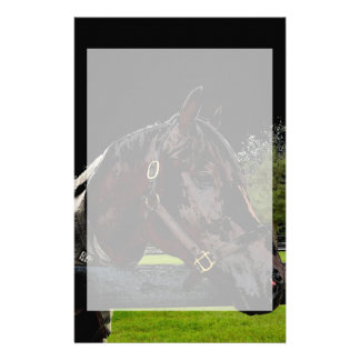 caballo sobre colores oscuros de la vista lateral papelería personalizada