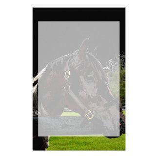 caballo sobre colores oscuros de la vista lateral papeleria de diseño