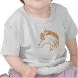 Caballo sonriente de Brown Camisetas