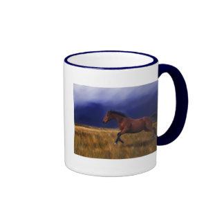 Caballo súbito del trueno taza de café