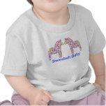 Caballo sueco de Dala del confeti del bebé Camisetas