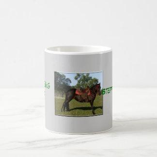 caballo taza básica blanca