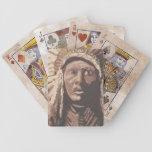 Caballo tres barajas de cartas