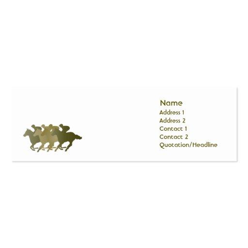 Caballo verde - flaco plantillas de tarjetas personales
