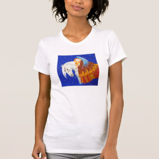 Caballo y camiseta del ángel playeras